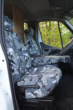 Nissan NV400 Van 2011 Onwards Tailored Front Seat Covers  Turtle Covers Ltd