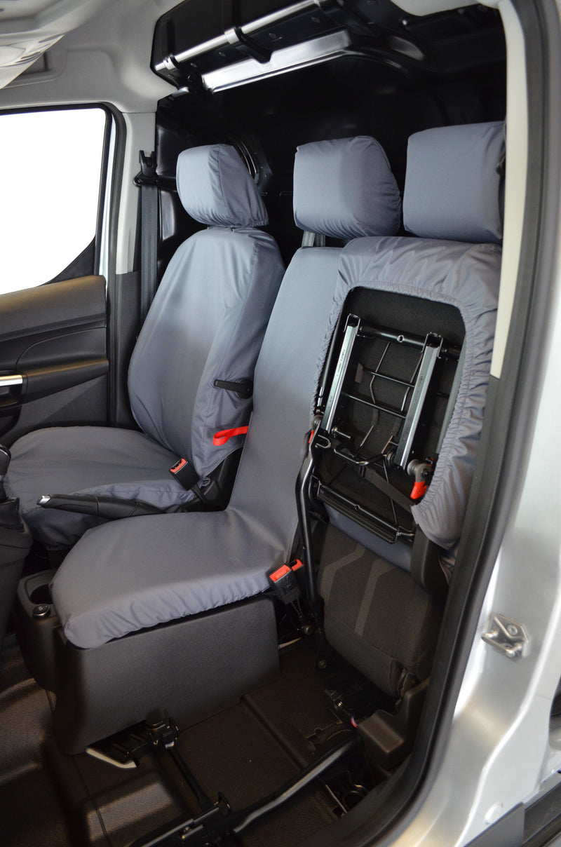 Ford Transit Connect Van 2014 - 2018 3-Seater Front Seat Covers Grey Turtle Covers Ltd