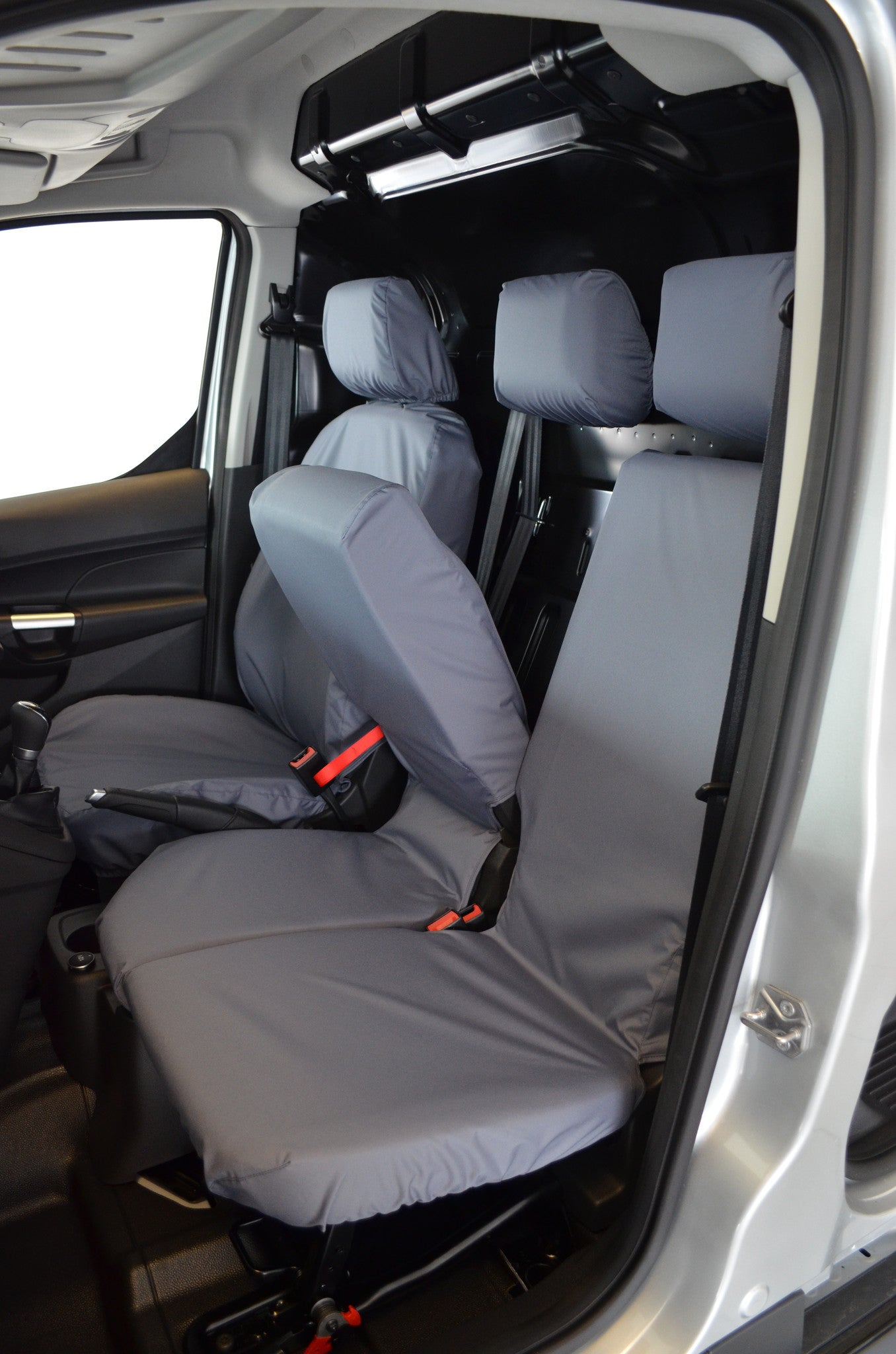 FORD TRANSIT CONNECT GREY CAMOUFLAGE WATERPROOF VAN SEAT COVERS 2+1