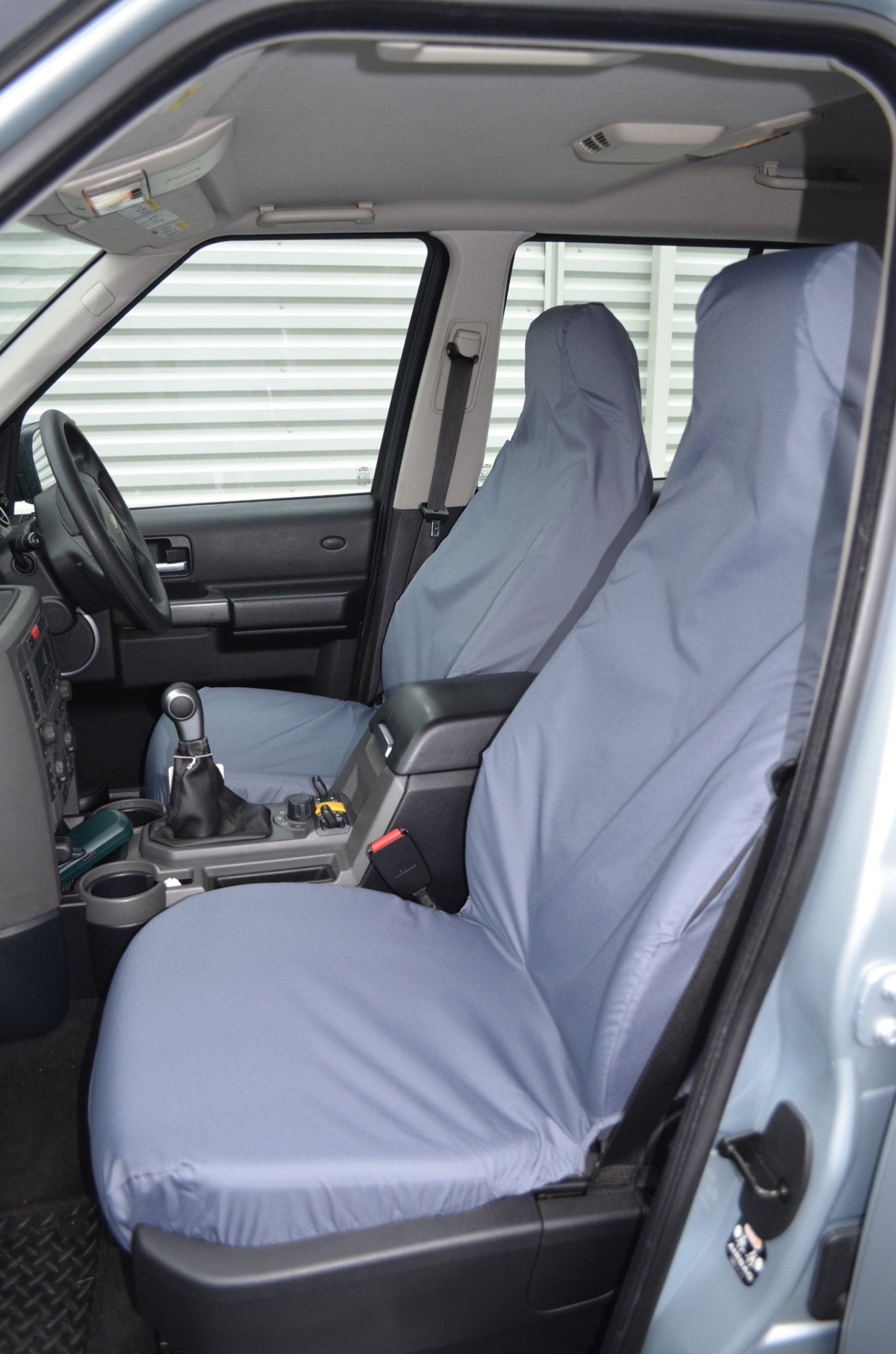 LAND ROVER DISCOVERY SEAT COVERS SERIES 3 /& 4 REAR SEATS GREY