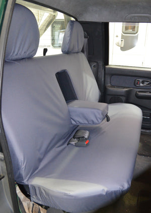Mitsubishi L200 Double Cab (1998 to 2006) Tailored Seat Covers Rear Seat / Grey Turtle Covers Ltd