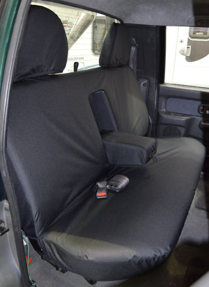 Mitsubishi L200 Double Cab (1998 to 2006) Tailored Seat Covers Rear Seat / Black Turtle Covers Ltd