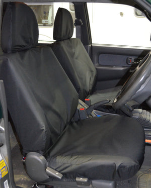 Mitsubishi L200 Double Cab (1998 to 2006) Tailored Seat Covers Front Seats / Black Turtle Covers Ltd