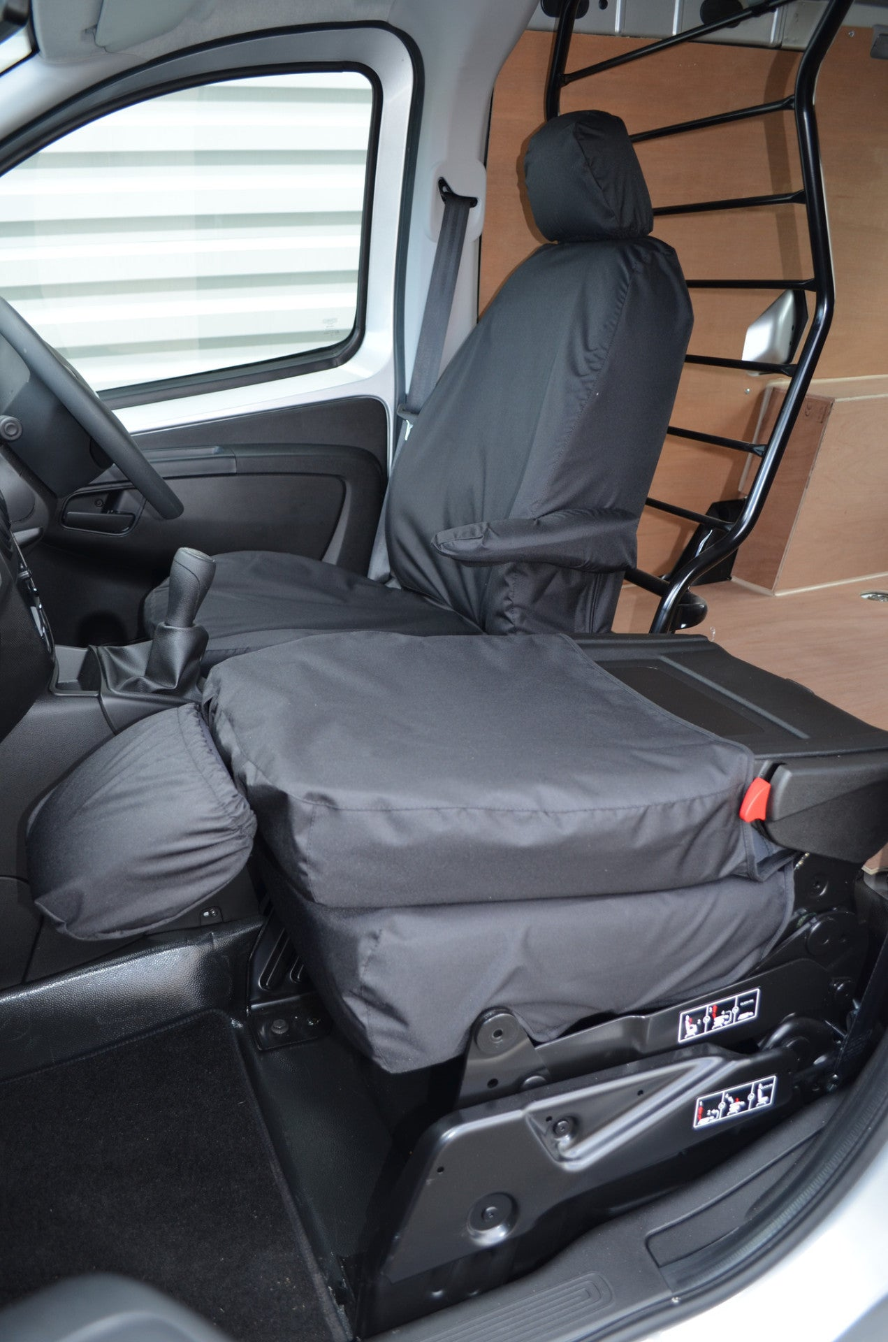 Peugeot Bipper 11+on van Grey Hd Rubber Coated waterproof Seat Covers pair