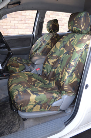 Toyota Hilux 2005 - 2016 Seat Covers Front Pair / Green Camouflage Turtle Covers Ltd