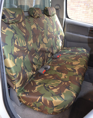 Toyota Hilux 2005 - 2016 Seat Covers Front & Double Cab Rear / Green Camouflage Turtle Covers Ltd