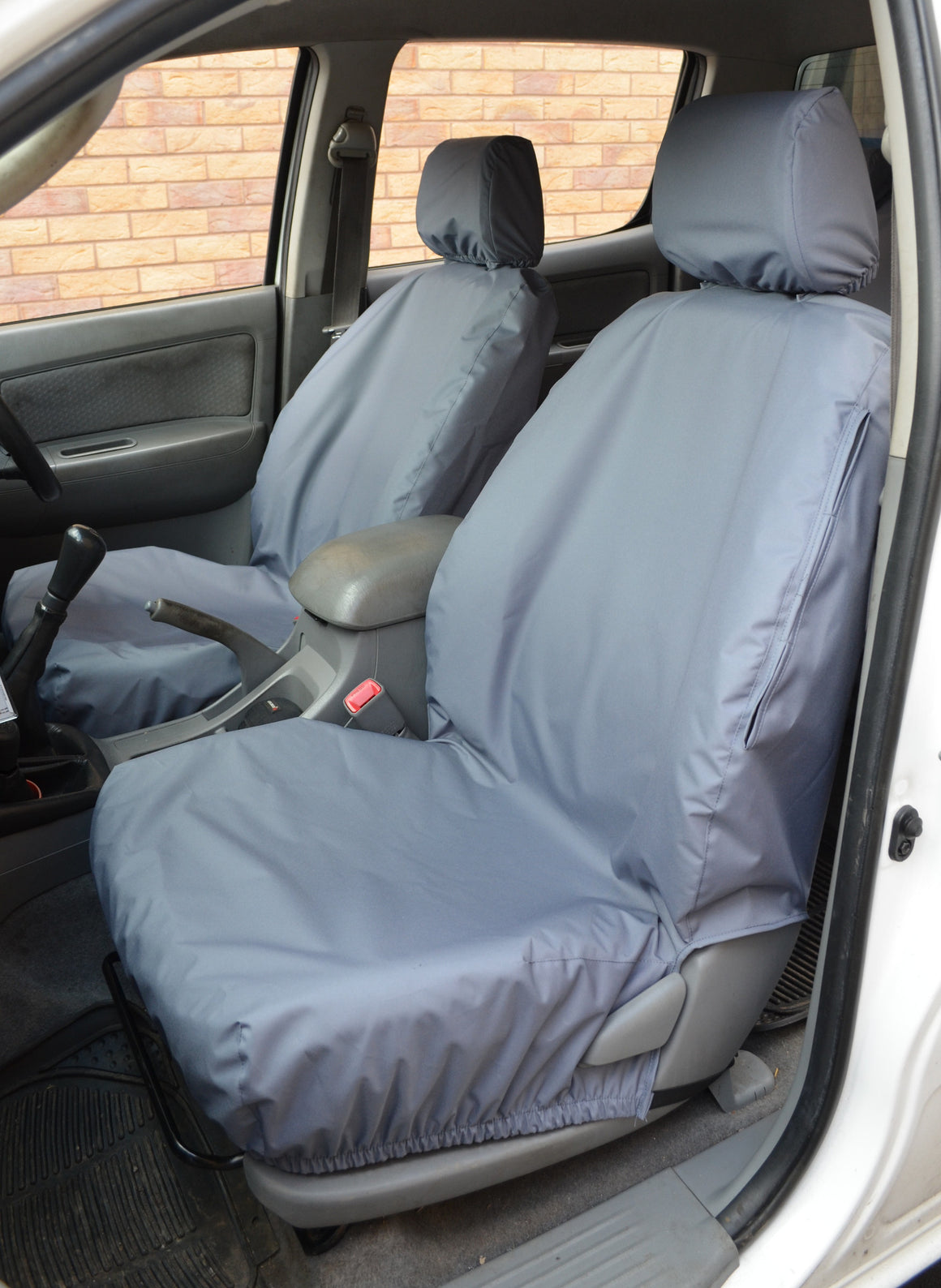 Toyota Hilux Invincible 2005 - 2016 Seat Covers Front Pair Seat Covers / Grey Turtle Covers Ltd