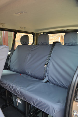 Nissan NV300 2016+ 9-Seater Minibus Seat Covers Grey / 3rd Row Rear Turtle Covers Ltd