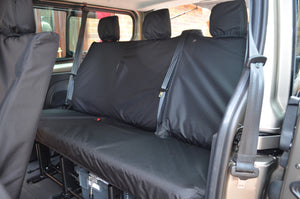 Nissan NV300 2016+ 9-Seater Minibus Seat Covers Black / 3rd Row Rear Turtle Covers Ltd