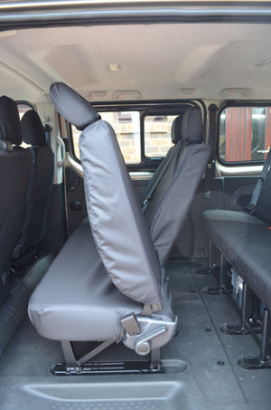 Nissan NV300 2016+ 9-Seater Minibus Seat Covers Black / 2nd Row Rear Turtle Covers Ltd