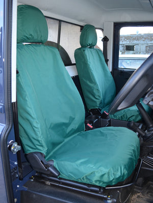Land Rover Defender 2007 - 2015 Seat Covers Green Turtle Covers Ltd