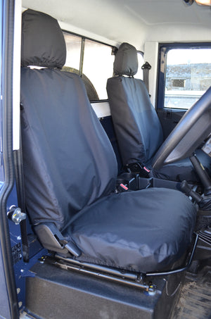 Land Rover Defender 2007 - 2015 Seat Covers Black Turtle Covers Ltd