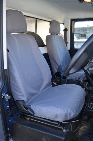 Land Rover Defender 2007 - 2015 Seat Covers Grey Turtle Covers Ltd