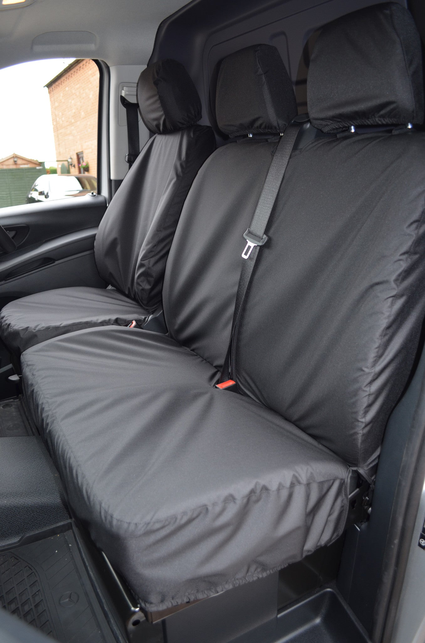 mercedes benz vito 2003 15 tailored and waterproof front seat covers turtle covers ltd. Black Bedroom Furniture Sets. Home Design Ideas