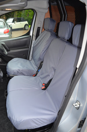 Vauxhall Combo Van 2018+ 3-Seater Front Seat Covers Grey Turtle Covers Ltd