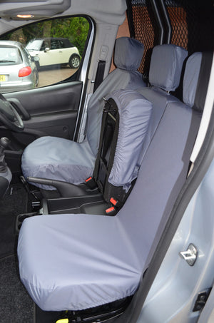 Vauxhall Combo Van 2018+ 3-Seater Front Seat Covers  Turtle Covers Ltd