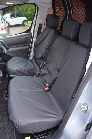Vauxhall Combo Van 2018+ 3-Seater Front Seat Covers Black Turtle Covers Ltd