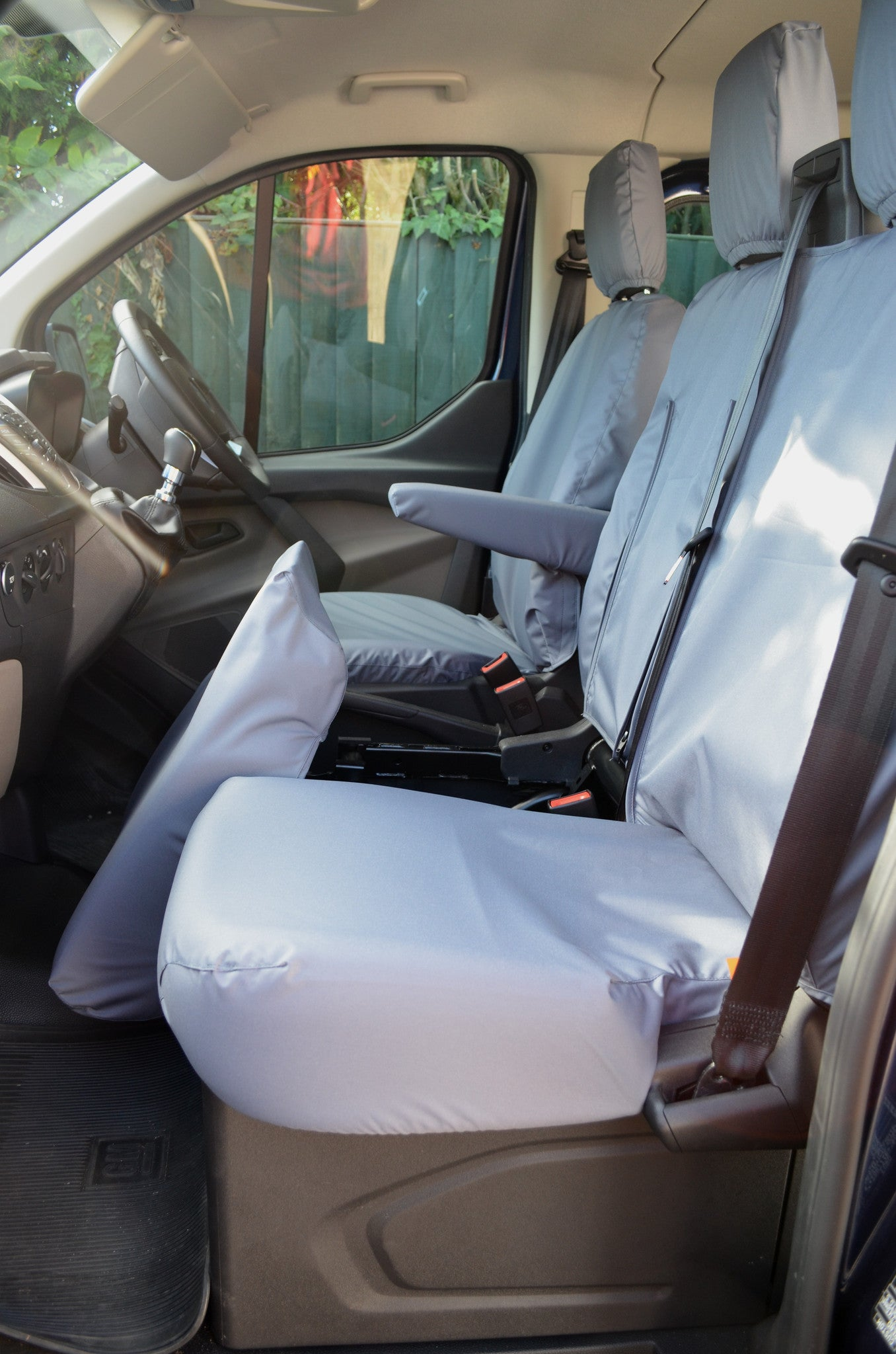 FORD TRANSIT SEAT COVERS 2014 ON FRONT SEATS GREY
