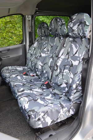 Citroen Dispatch 2007 - 2016 Tailored Front Seat Covers Urban Camouflage Turtle Covers Ltd