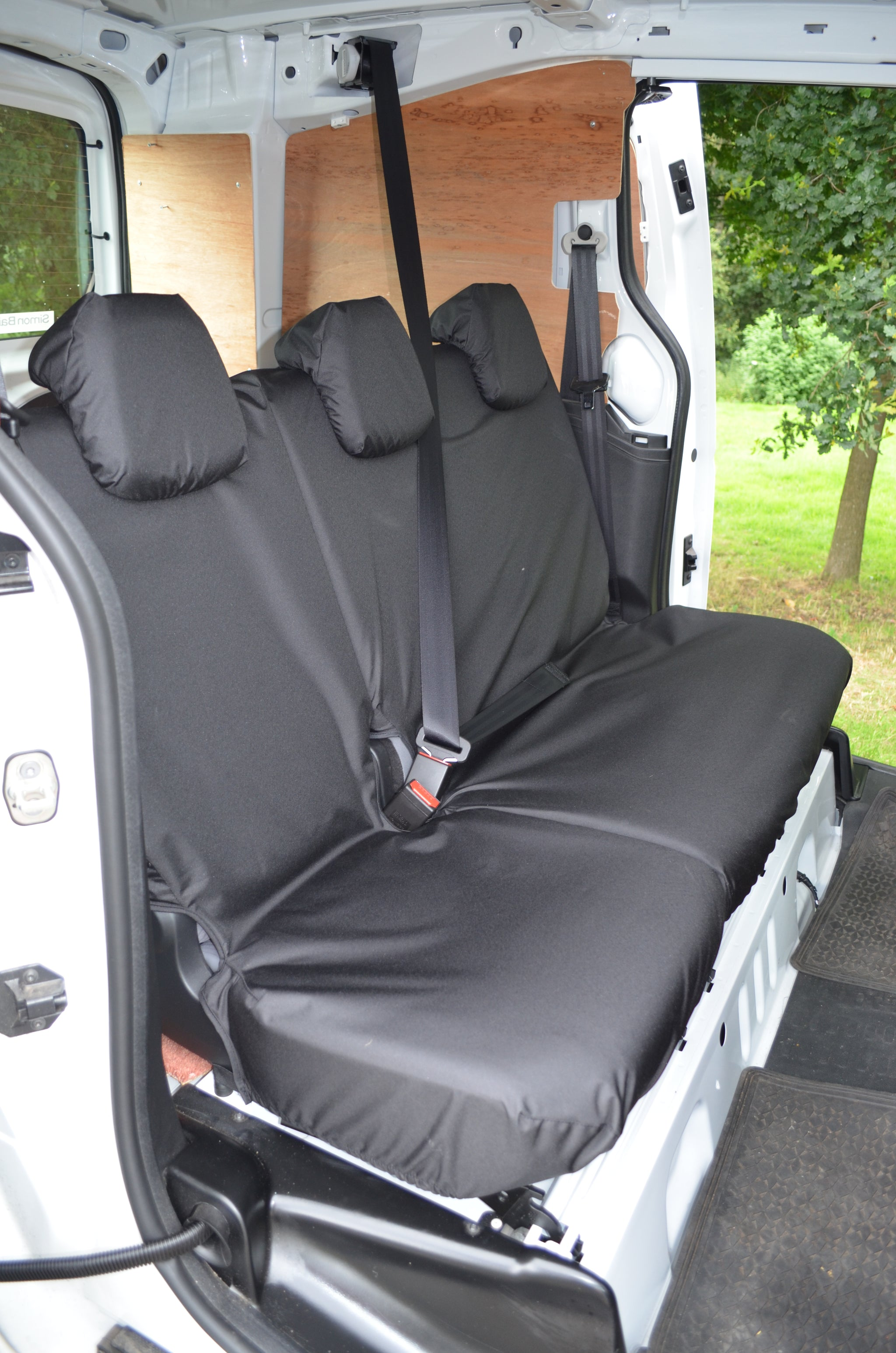 10 ON LEATHER LOOK BLACK VAN SEAT COVERS SINGLE /& DOUBLE 2+1 VAUXHALL MOVANO