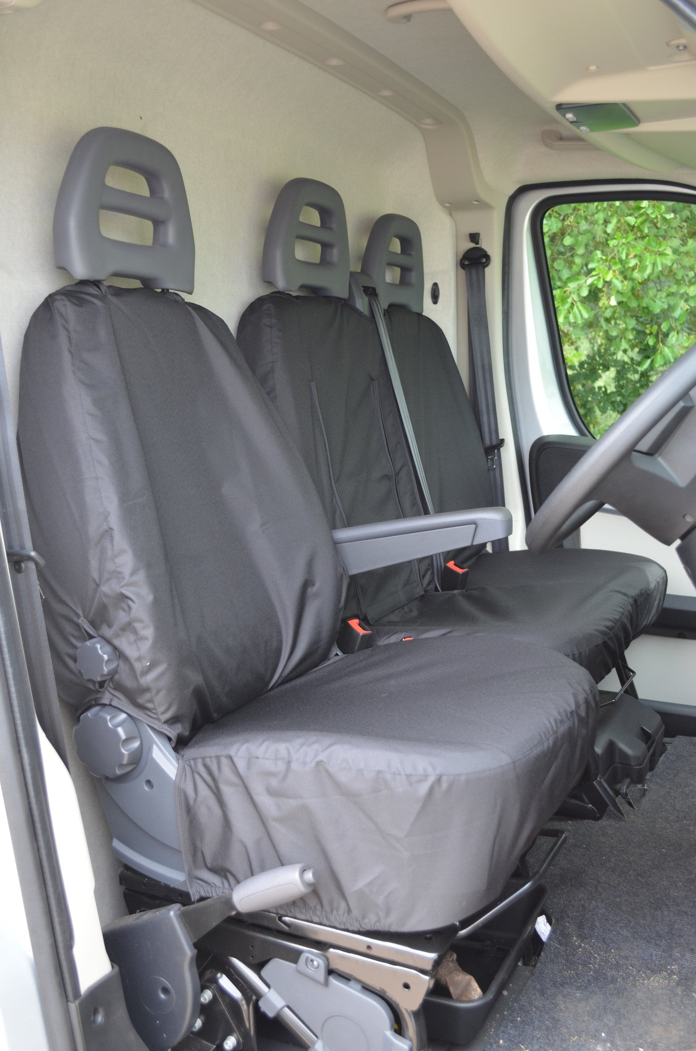 Peugeot Boxer Van 2006+ Tailored Waterproof Front and Rear Seat ...