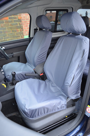 Volkswagen Caddy 2004 Onwards Seat Covers Front Pair / Grey Turtle Covers Ltd