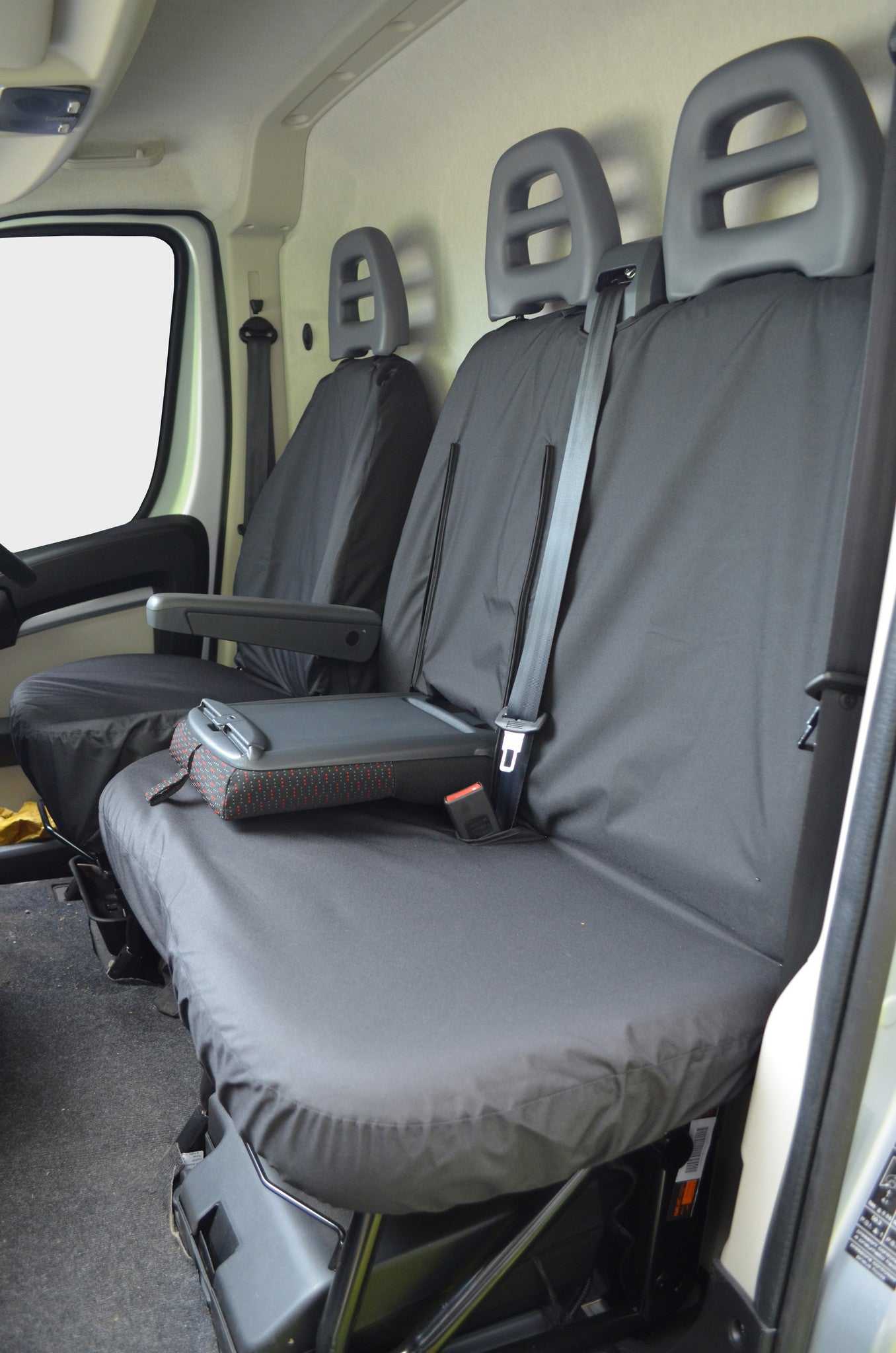 CITROEN RELAY 2016 ONWARDS HEAVY DUTY BLACK WATERPROOF VAN SEAT COVERS 2+1