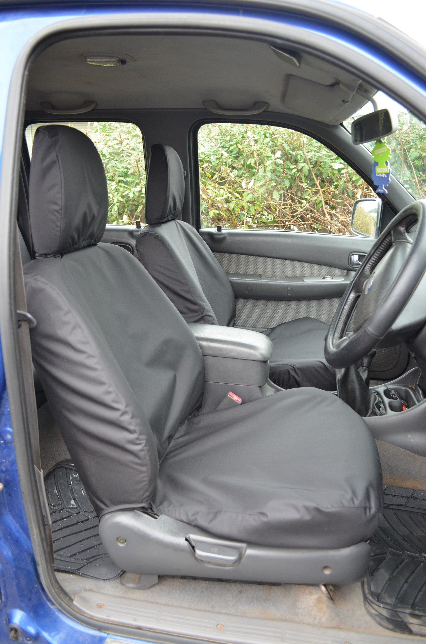 Ford Ranger 2006-2011 Black Waterproof Tailored Pair Front Seat Covers UK Made