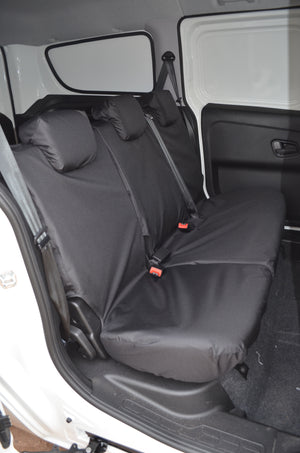 Fiat Doblo Van 2010+ Tailored Seat Covers Black / Rear Turtle Covers Ltd