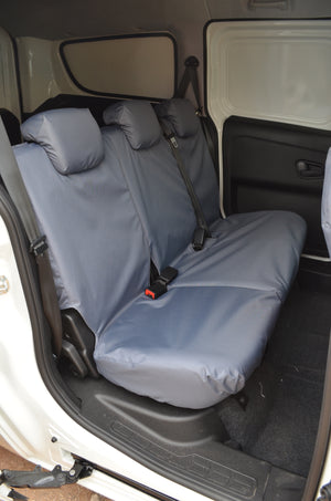 Fiat Doblo Van 2010+ Tailored Seat Covers Grey / Rear Turtle Covers Ltd