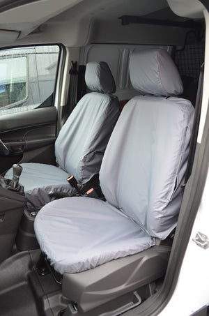 Ford Transit Connect 2018+ Tailored Seat Covers Front Pair (With Armrests) / Grey Turtle Covers Ltd
