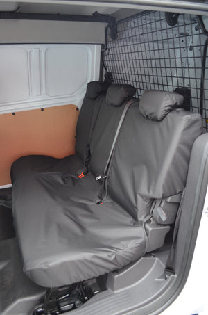 Ford Transit Connect 2018+ Tailored Seat Covers Rear Seats / Black Turtle Covers Ltd