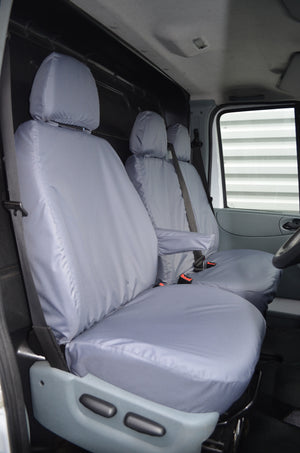 Ford Transit Van 2000 - 2013 Tailored Front Seat Covers Grey Turtle Covers Ltd