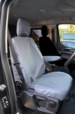 Ford Transit 2014+ Onwards Driver's Seat Tailored Seat Cover Grey Turtle Covers Ltd