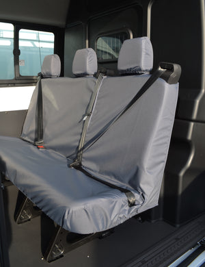 Ford Transit 2014+ Tailored & Waterproof Rear Seat Covers Grey / 3-Seater Turtle Covers Ltd