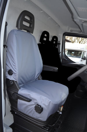 Iveco Daily Van 2014+ Tailored Driver Seat Cover Grey Turtle Covers Ltd