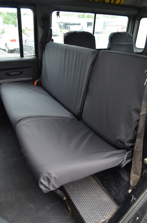 Land Rover Defender 1983 - 2007 Rear Seat Covers 2nd Row Single & Double / Black Turtle Covers Ltd