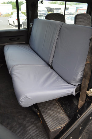 Land Rover Defender 1983 - 2007 Rear Seat Covers 2nd Row Single & Double / Grey Turtle Covers Ltd