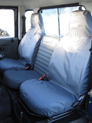 Land Rover Defender 1983 - 2007 Front Seat Covers Front Pair / Grey Turtle Covers Ltd