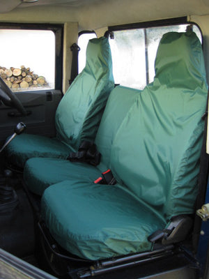 Land Rover Defender 1983 - 2007 Front Seat Covers 3 Front Seats / Green Turtle Covers Ltd