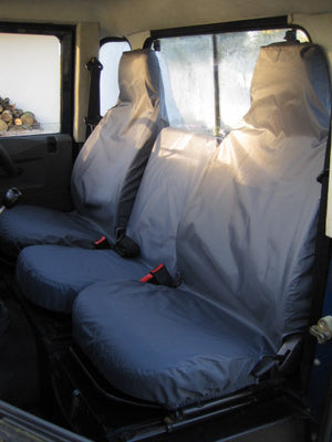 Land Rover Defender 1983 - 2007 Front Seat Covers  Turtle Covers Ltd