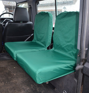 Land Rover Defender 1983 - 2007 Rear Seat Covers Set of 2 Dicky Seats / Green Turtle Covers Ltd