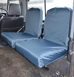 Land Rover Defender 1983 - 2007 Rear Seat Covers Set of 2 Dicky Seats / Navy Blue Turtle Covers Ltd