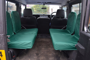 Land Rover Defender 1983 - 2007 Rear Seat Covers Set of 4 Dicky Seats / Green Turtle Covers Ltd