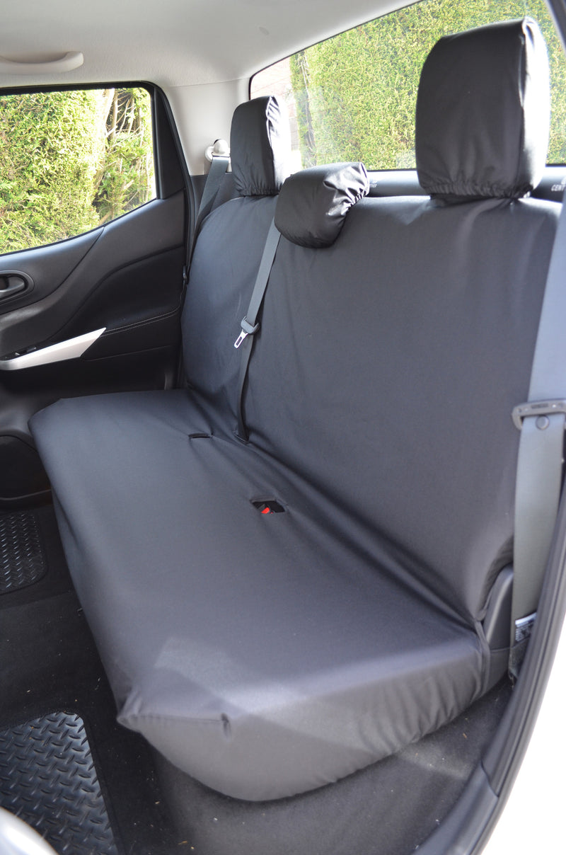 Nissan Navara NP300 Double Cab (2016 Onwards) Tailored Seat Covers Rear Seats / Black Turtle Covers Ltd