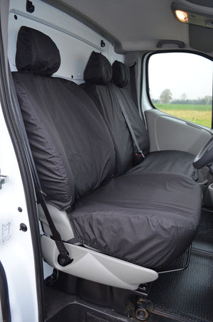 Vauxhall Vivaro 2006 - 2013 Tailored Front Seat Covers Black / Without Driver's Armrest Turtle Covers Ltd
