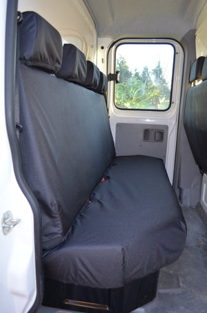 Vauxhall Movano Van 2010 Onwards Tailored Rear Seat Covers Black Turtle Covers Ltd