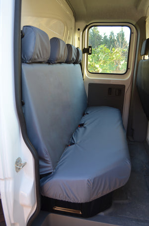 Vauxhall Movano Van 2010 Onwards Tailored Rear Seat Covers Grey Turtle Covers Ltd