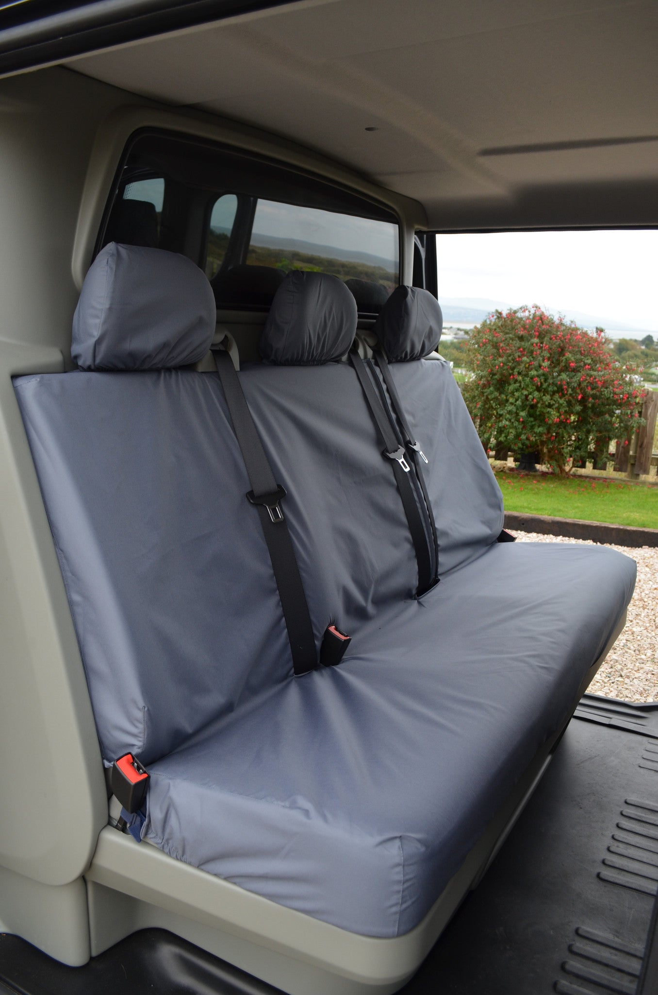 Mitsubishi L200 1998-2006 Black Waterproof /& Tailored Rear Bench Seat Cover