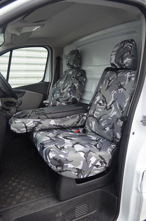 Renault Trafic Van 2014 Onwards Tailored Front Seat Covers  Turtle Covers Ltd
